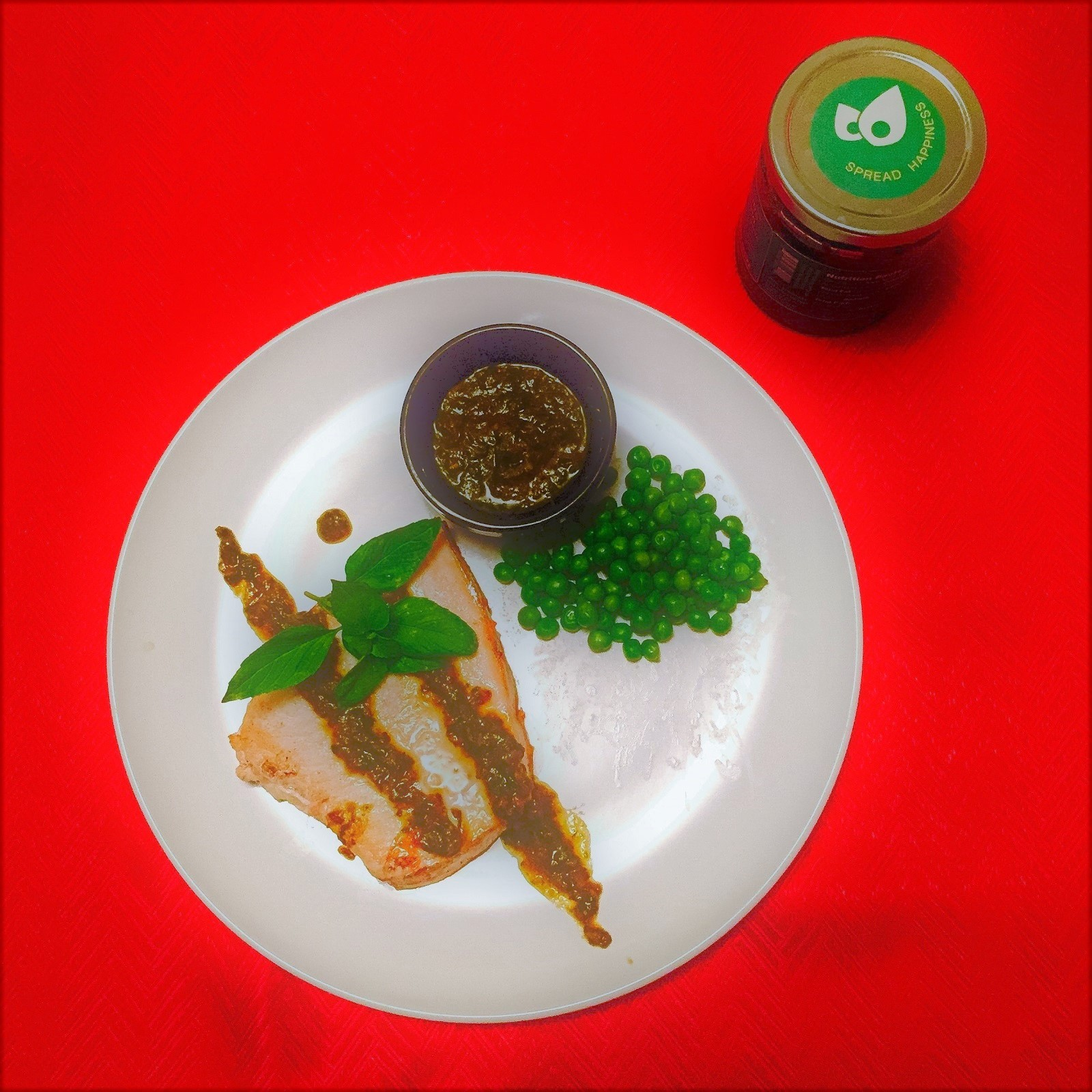 Picture of Pan roasted sword fish with Sasya Cilantro Spread