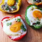 Image of Baked Egg Bell Pepper Cups from MeagsEggs