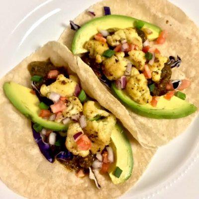 Cauliflower Sasya Cilantro Tacos