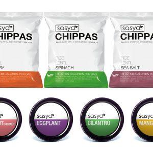 Gluten free vegan sasya chips crackers crisps chutney sauces coriander lentil