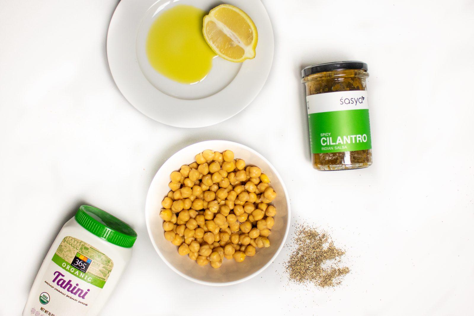 hummus-cilantro-chickpea-tahini