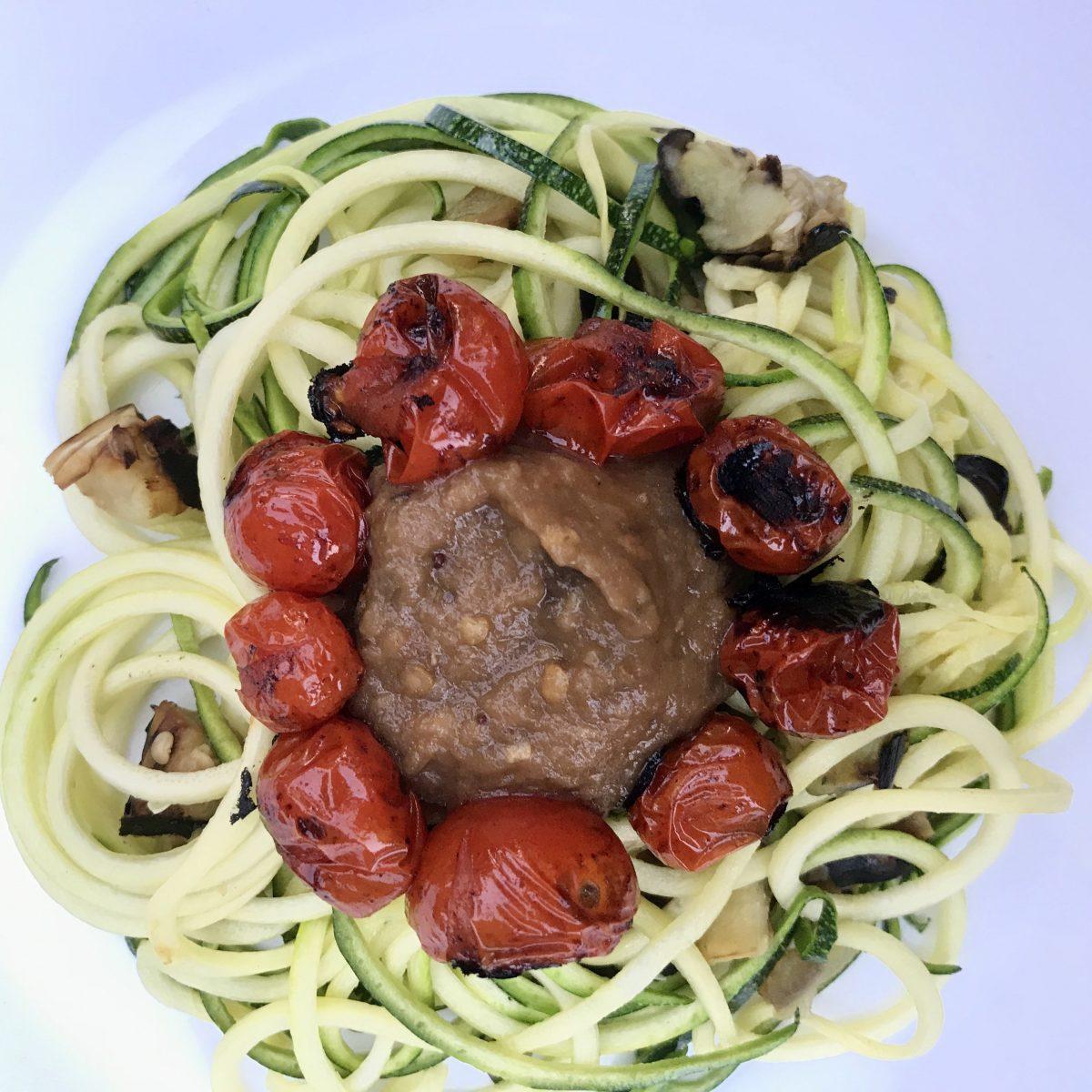 zucchini-zoodles-eggplant-pasta