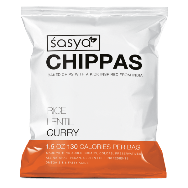 Sasya Chippas-Curry-Original-Spicy-Rice-Lentil-Chips-Snack-Indian